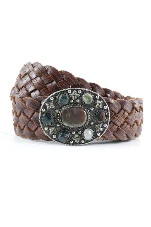 Friis & Company Braided Belt brown Boho look