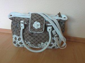Friis & Company Handtasche / Umhängetasche, weiß, Braun, geblümt