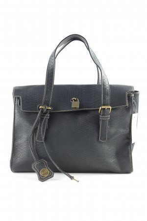 Friis & Company Bolso barrel negro estampado de animales look casual