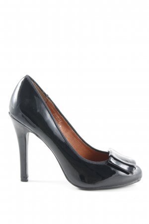 Friis & Company High Heels schwarz Lack-Optik