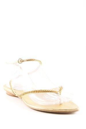 Friis & Company Sandalo con cinturino oro stile casual