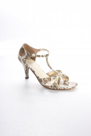 Friis & Company Strapped High-Heeled Sandals animal pattern reptile print