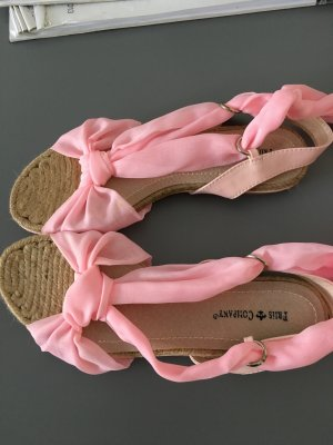 Friis & Company Espadrille Sandals oatmeal-pink