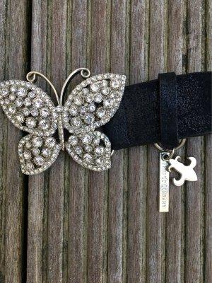 Friis Company Schmetterlingschnalle Gürtel schwarz
