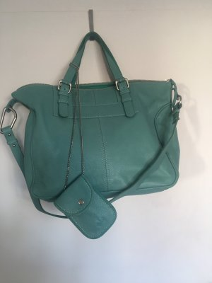 Friis & Company Shopper turquoise-mint leather