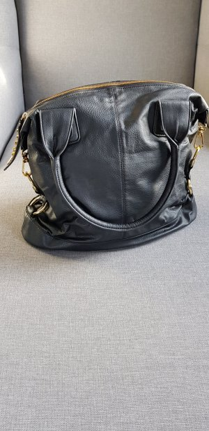 Friis & Company Carry Bag black-gold-colored leather