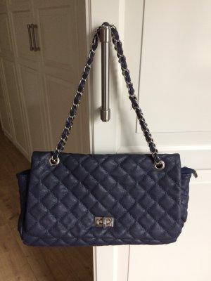 Friis & Company Tasche Handtasche blau mit Kette