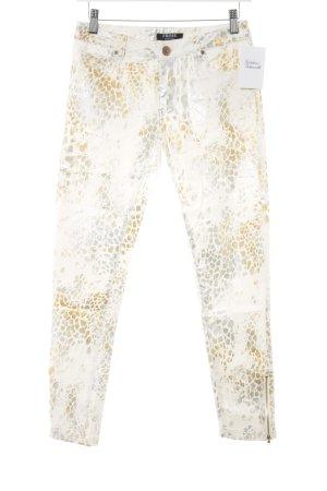 Frime Pantalon cinq poches motif animal style extravagant