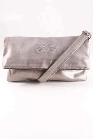 Fritzi aus preußen Clutch silberfarben Metallic-Optik