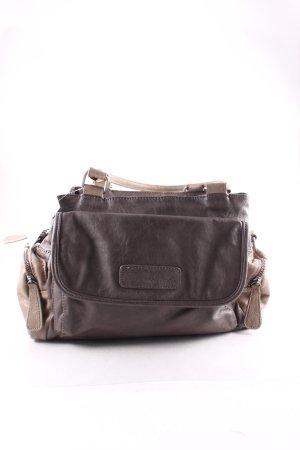 Fritzi aus preußen Handtasche graubraun-dunkelbraun klassischer Stil