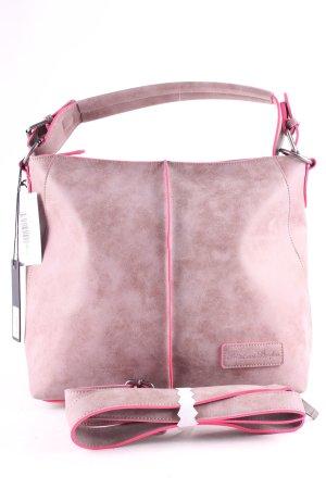 Fritzi aus preußen Handbag grey lilac-pink classic style