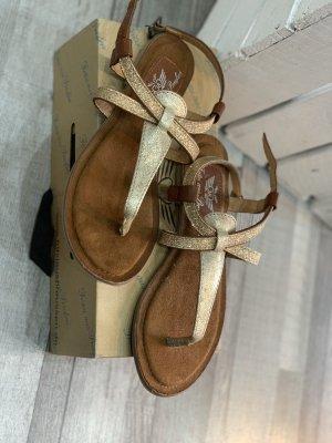Fritzi aus preußen Toe-Post sandals sand brown
