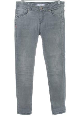 Fritzi aus preußen Skinny Jeans grau Used-Optik