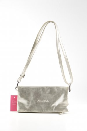 Fritzi aus preußen Crossbody bag silver-colored-natural white printed lettering