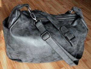 FRITZI AUS PREUSSEN XL Tasche bag Schultertasche shopper grau Vintage neuwertig