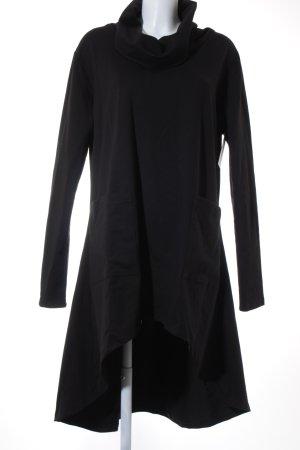 FRKT Vestido tipo jersey negro look casual
