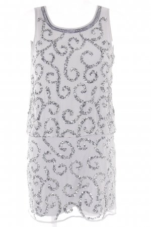 Frock and Frill Abendkleid graublau-silberfarben Webmuster Elegant