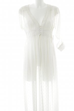 Frock and Frill Langarmkleid creme Punktemuster Hippie-Look