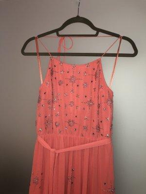 Frock and Frill, Langes Perlenverziertes Neckholder Kleid