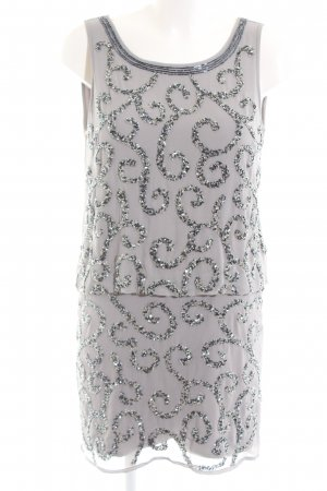 Frock and Frill Sequin Dress light grey-silver-colored wet-look