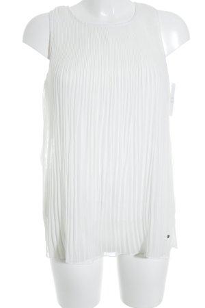 Frogbox ärmellose Bluse weiß Elegant