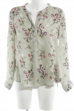 Frogbox Langarm-Bluse Blumenmuster klassischer Stil