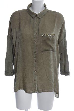 Frogbox Camisa de manga larga caqui look casual