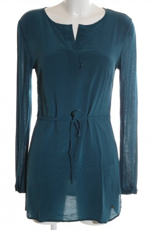 Frogbox Long-Bluse blau Casual-Look