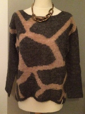 Frogbox Pullover grau / beige Größe 34-40