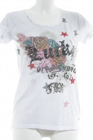 Frogbox Rippshirt florales Muster Street-Fashion-Look