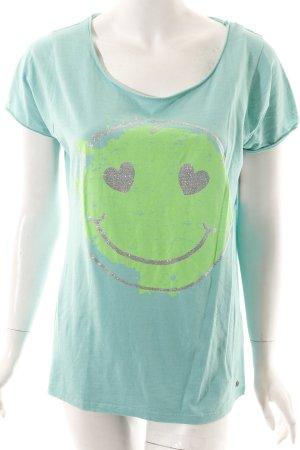 Frogbox Shirt türkis Casual-Look