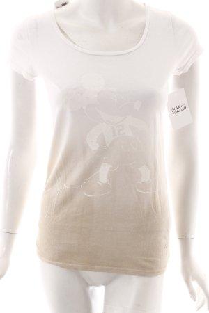Frogbox Shirt weiß-beige Farbverlauf Casual-Look