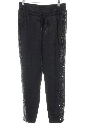 Frogbox Pantalon en jersey noir élégant