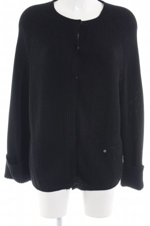 Frogbox Strickjacke schwarz Casual-Look
