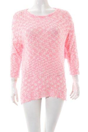 Frogbox Strickpullover weiß-pink Farbverlauf Casual-Look