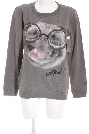 Frogbox Sweatshirt dunkelgrau Casual-Look