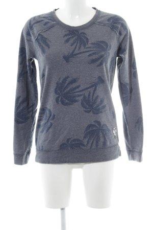 Frogbox Sweatshirt graublau-dunkelblau Allover-Druck Casual-Look