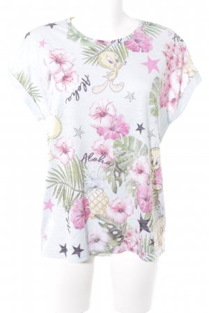 Frogbox T-Shirt Blumenmuster Casual-Look