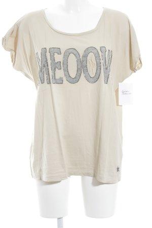 Frogbox T-Shirt creme-hellgrau extravaganter Stil