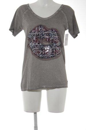 Frogbox T-Shirt graubraun Casual-Look
