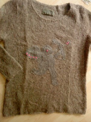 FROGBOX Wollpullover mit Engel in graubraun 40