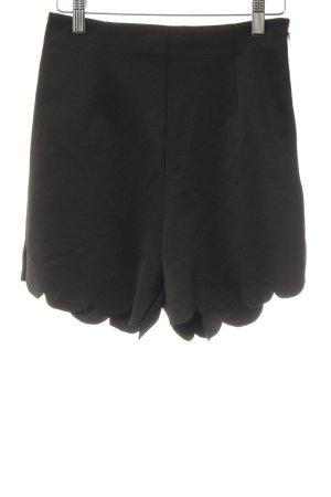 FRONT ROW SHOP Short taille haute noir style mode des rues