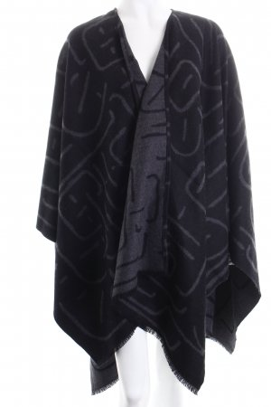 Front Row Society Poncho schwarz-dunkelgrau abstraktes Muster Casual-Look