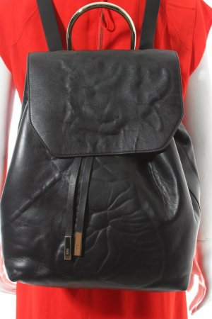 Front Row Society Backpack black leather
