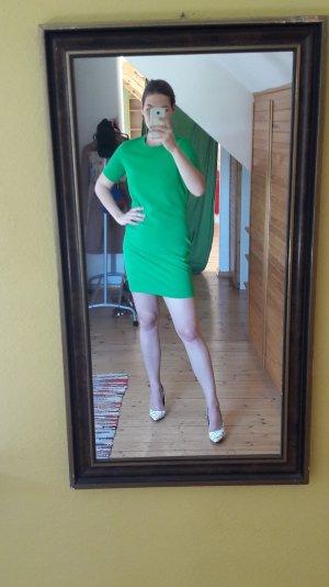 froschgrünes Minikleid