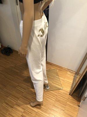 Juicy Couture Pantalone fitness bianco-oro