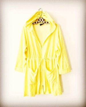 Vintage Robe à capuche jaune