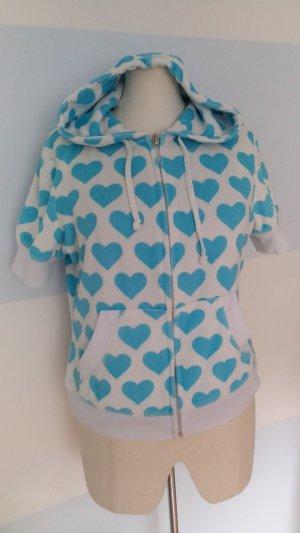 Frottee-Jacke mit Herzen