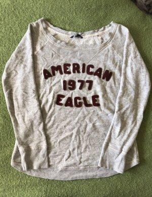American Eagle Outfitters Maglione girocollo grigio chiaro-rosso scuro