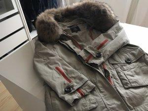 Parka multicolored fur